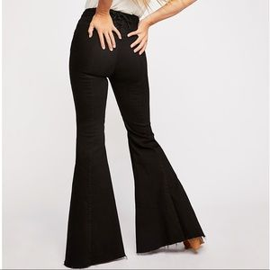 NWT FP CRVY Super High-Rise Lace-Up Flare Jean